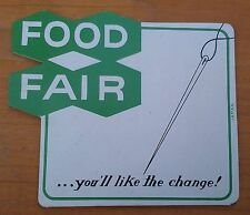VINTAGE FOOD FAIR ~ SEWING NEEDLE PACK ~ COMPLETE WITH NEEDLE THREADER ~ 1950'S