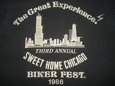Vintage 1980s CHICAGO OUTLAW BIKER FEST T SHIRT Motorcycle HARLEY DAVIDSON S/M