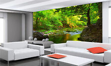 Green Forest Wall Mural Photo Wallpaper GIANT DECOR Paper Poster Free Paste