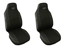 MINI CAR SEAT COVERS WITH BLUE PIPING