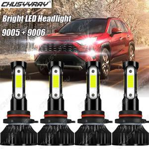 For Toyota RAV4 2013 2014 2015 9005+9006 6xLED Headlight High Low Beam Bulbs Kit