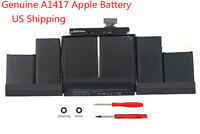 """Genuine A1417 Battery For MacBook Pro 15"""" Inch Retina A1398 Mid 2012 Early 2013"""