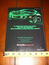 1998 PONTIAC TRANS AM - ORIGINAL AD