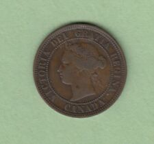 1886 Canadian Large One Cent Coin - Fine