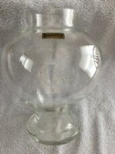 """VINTAGE TOSCANY CLEAR HAND BLOWN VASE FROM ROMANIA - 9.25"""" IN HEIGHT - PRE-OWNED"""