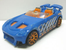 Hot Wheels 2001  Blue diecast car dino fossil flip - dino nails - RARE 2001