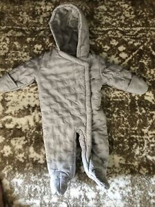 Next Snowsuit All In One Coat Age 3-6 Months Grey