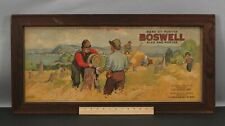 RARE Antique JD KELLY Boswell Beer Sign Quebec Canada Ale Porter Advertise Print