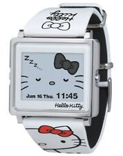 NEW EPSON W1-HK10110 smart canvas Hello Kitty simple white Digital Watch JAPAN
