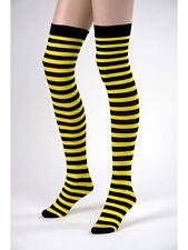 """1 Paar Überkniestrümpfe """"Biene"""" Kostüm Accessoires"""