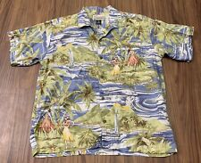 Vtg Pataloha Patagonia Men Large Paradise Hawaiian Aloha Shirt 100% Cotton Camp
