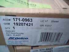 Disc Brake Pad Set ACDelco GM Original Equipment 171-0963