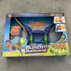 NEW ZURU SELF-SEALING 100 WATER BALLOONS BUNCH O BALLOONS BLUE/GREEN SLINGSHOT