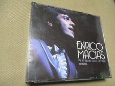 "RARE! COFFRET 3 CD ""ENRICO MACIAS - THE PLATINUM COLLECTION"" raretés, versions é"
