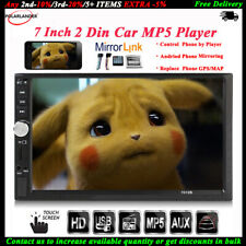 7''2 DIN Touch Screen Car Radio Audio Mirror Link BT Stereo MP5 Player FM/TF/USB