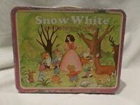 "VINTAGE 1980 ""SNOW WHITE & THE SEVEN DWARFS"" METAL LUNCH BOX BY OHIO ART"