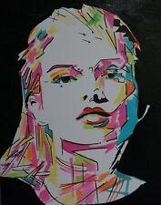 Tableau moderne portrait Abstrait cotation Art Price Akoun Drouot