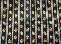 19th Century French Floral Silk Printed Fabric
