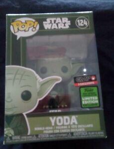 EXCLUSIVE Funko Pop! Star Wars - Yoda #124 Military Green (ECCC 2021) Exclusive.