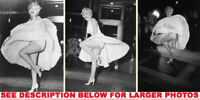 MARILYN MONROE 7 YEAR ITCH SUBWAYLEGS 3xRARE8x10 PHOTOS