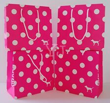 VICTORIA SECRET PINK GIFT BAG (LOT OF 4) - SMALL - WITH TISSUE PAPER - NEW
