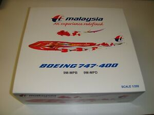 """1/200 JCWings200 Malaysia Airlines Boeing 747-400 """"Hibiscus"""" 9M-MPD"""