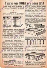TRANSFORMER SOMMIER EN DIVAN / ARTICLE PRESS 1954 /  BRICOLAGE