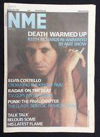 NME 22 February 1986 Keith Richards Elvis Costello Talk Talk