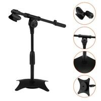 Tabletop Desktop Microphone Mic Stand Holder Metal Weighted Base forOnline class