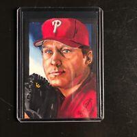 Curt Schilling  Phillies 1/1 hand drawn original art sketch card aceo