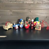 9 Vintage Christmas Ornament Lot