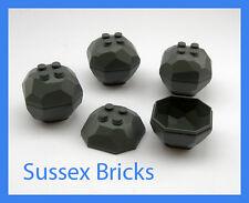 LEGO Castle - 4X DARK bluastra Grigio Rock Boulder City miniera STAR WARS-NUOVI pezzi