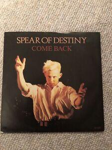 "Spear Of Destiny Come Back 7"" Vinyl Record Single 1985 A6445 45"