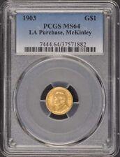 LA PURCHASE, MCKINLEY 1903 G$1 Gold Commem PCGS MS64