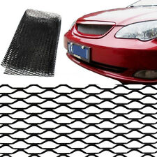 100×33cm Black Alloy Car Vehicle Body Fender Grille Mesh Section Grill Net