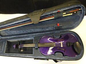 The Rainbow Violin Company Ltd - Metallic Purple - Size 4/4 - Inc Case & Bow