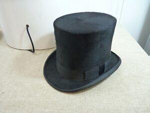 Lock & Co Black Top Hat - 100% Fine Fur Felt - Medium 57 size   Thames Hospice