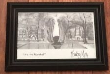 P. Buckley Moss Framed Post Card In Photo Frame - Cute !  we are Marshall - WV