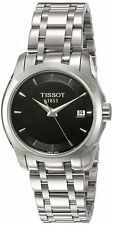 Tissot T-Trend Couturier Black Dial Steel Bracelet Women Watch T0352101105100
