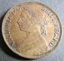 1895 Jeunes Tête Reine Victoria 1/4d Farthing Coin --- meilleure année UNC - £ 335.