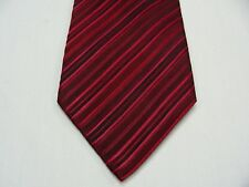 CONCEPTS BY CLAIBORNE - RED & BLACK STRIPED - 100% SILK NECK TIE!