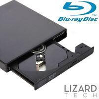 USB 2.0 External Blu-ray BD-ROM Combo 8x Burner Writer Player DVD±RW Drive Black