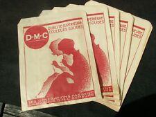 DMC broderie fil couture superbe ancien souvenir de mercerie 5 sac papier 1930