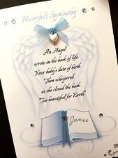 Personalised Handmade 'Angel Book'  Sympathy Card GIRL OR BOY