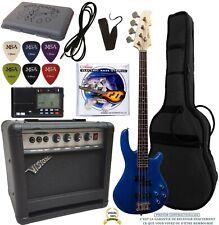 Pack Basse électrique bleue Ampli 30W 7 Accessoires