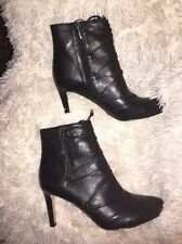Vince Camuto Chenai Black Nappa Leather Bootie Boots Heels sz 9.5 m new