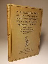 1923 WALTER CRANE BIBLIOGRAPHY 1ST ED DJ LONDON BOOK ILLUSTRATOR ARTIST