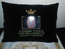 Dog Throw Photo Couch Pillow Add Your Own Photo Washable Cover FREE SHIPPING!