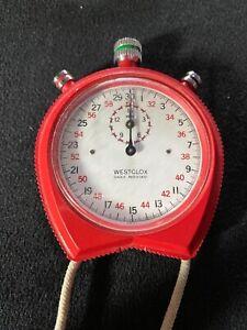 Vintage Westclox Shock Resistant Stop Watch Timer
