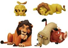 THE LION KING Set 5 FIGURE Simba Scar Mufasa Timon Pumbaa DISNEY TOMY Gashapon